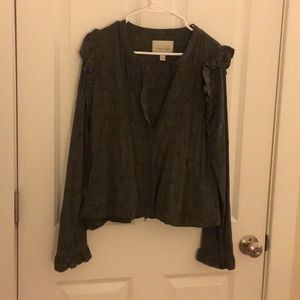 Hinge Ruffled Military Jacket